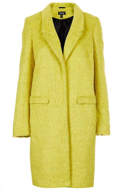 yellow boyfriend coat