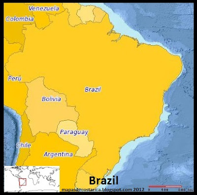 Mapa de Brasil (PLANIGLOBE)