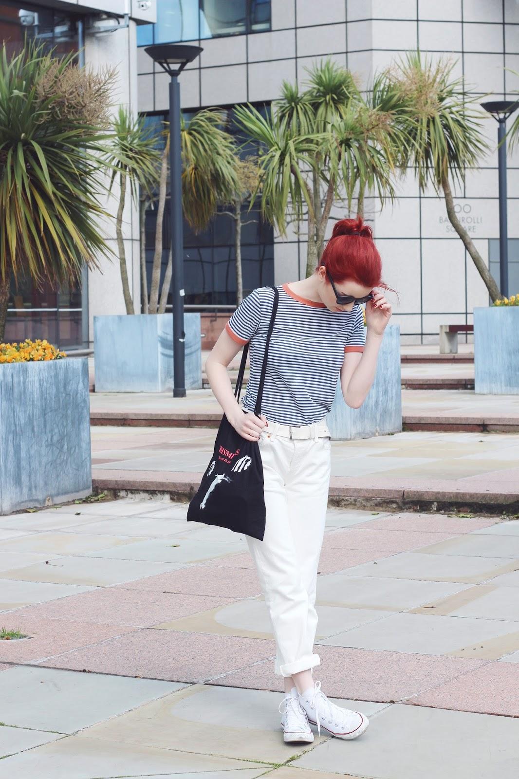 white jeans levis 501s