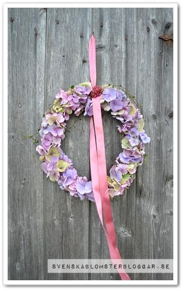 hortensiakrans, krans hortensia, höstkrans, höstkrans hotensia, autumn wreat, autumn wreath hydrangea, wreath hydrangea