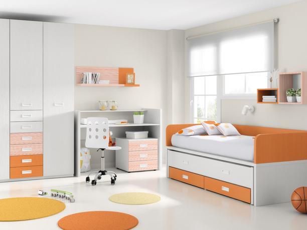 Transformacion de cuna en cama compacto mesa de estudio y mesilla de 3 cajones - Habitaciones cuna convertible en cama ...