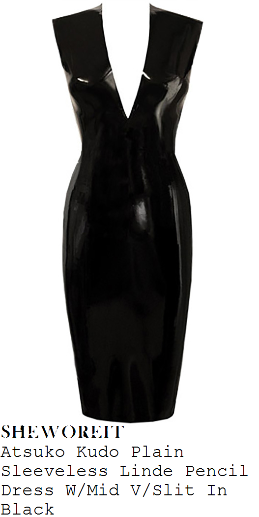 kim-kardashian-west-black-latex-dress-kylie-jenner-18-party