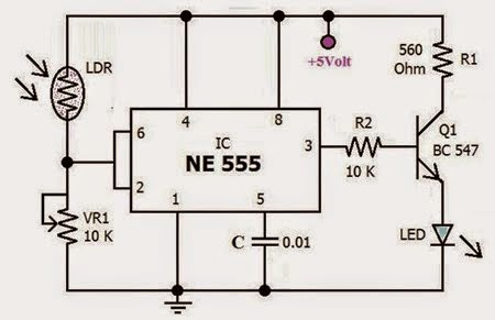 Automatic Emergency Light using 555 ic | Schematics World