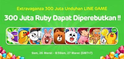 LINE Game Sudah Tembus 300 Juta Unduhan