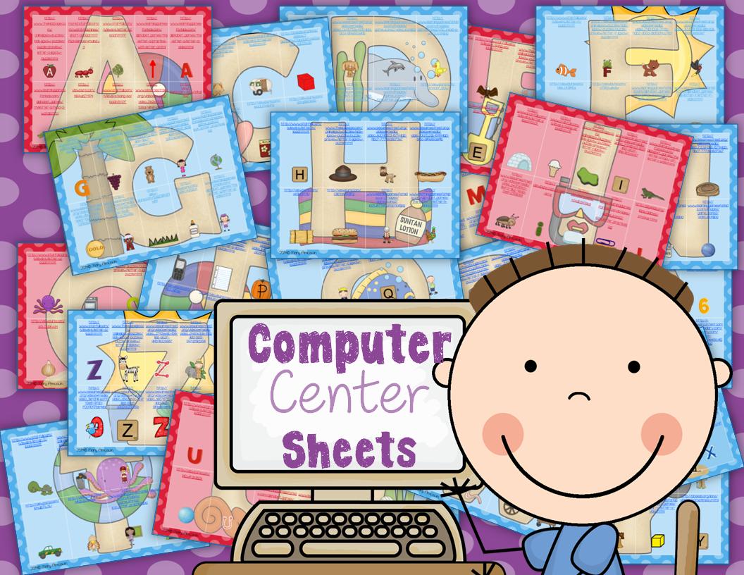 http://www.sharingkindergarten.com/2014/03/computer-center-sheets-abcs.html