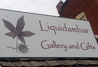 Liquidambar art gallery sign