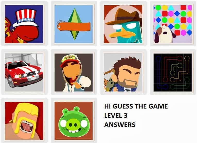 Answers Walkthrough For All Games Levels 1 2 3 4 5 6 7 8 9