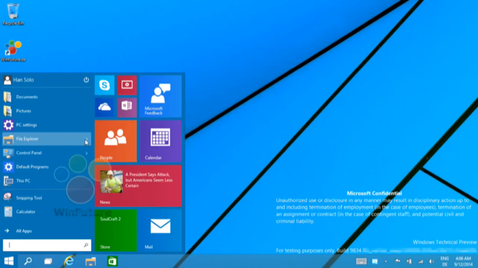 Windows 9 deve priorizar a interface desktop e trazer de volta o menu Iniciar e apps em janelas