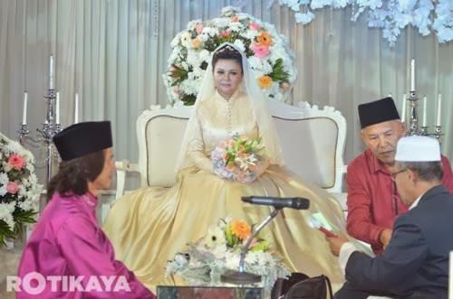 Gambar perkahwinan Raja Azmi dan Eddie CRK