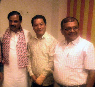 Bimal Gurung Rohit Sharma with Tourism minister Mahesh Sharma