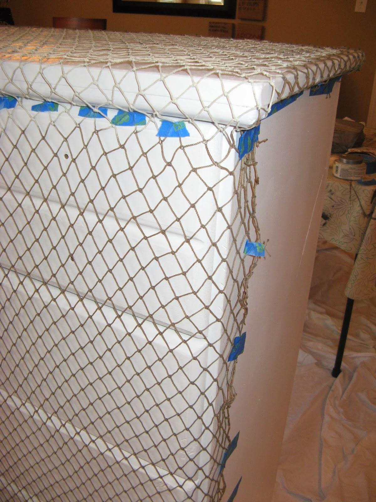 Failed fishnet paint texture