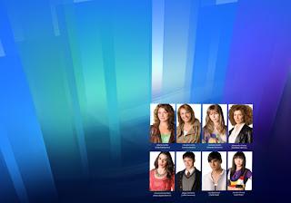 Morangos com Açucar Wallpapers Posters Grátis Jovens Actores da série Vive o Verão em fundo Cristal