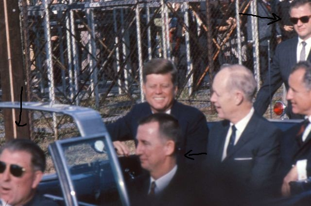 11/18/63, Tampa, FL: SA Greer; SA Lawton riding (near) rear of limo; Congressman Sam Gibbons