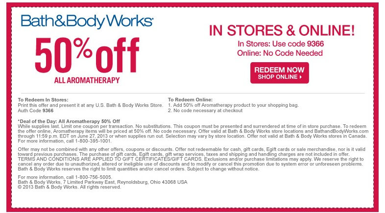 Bath and body works coupon codes free shipping
