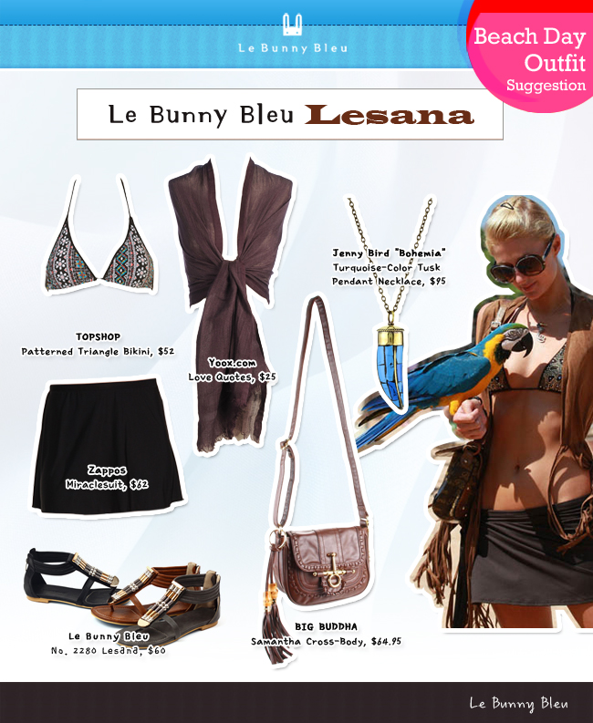 Le Bunny Bleu Beach Day Outfit Suggestion