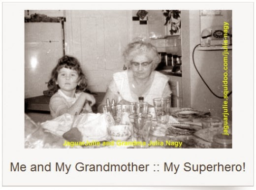 jaguarjulie ann brady and grandmother julia nagy 1950s