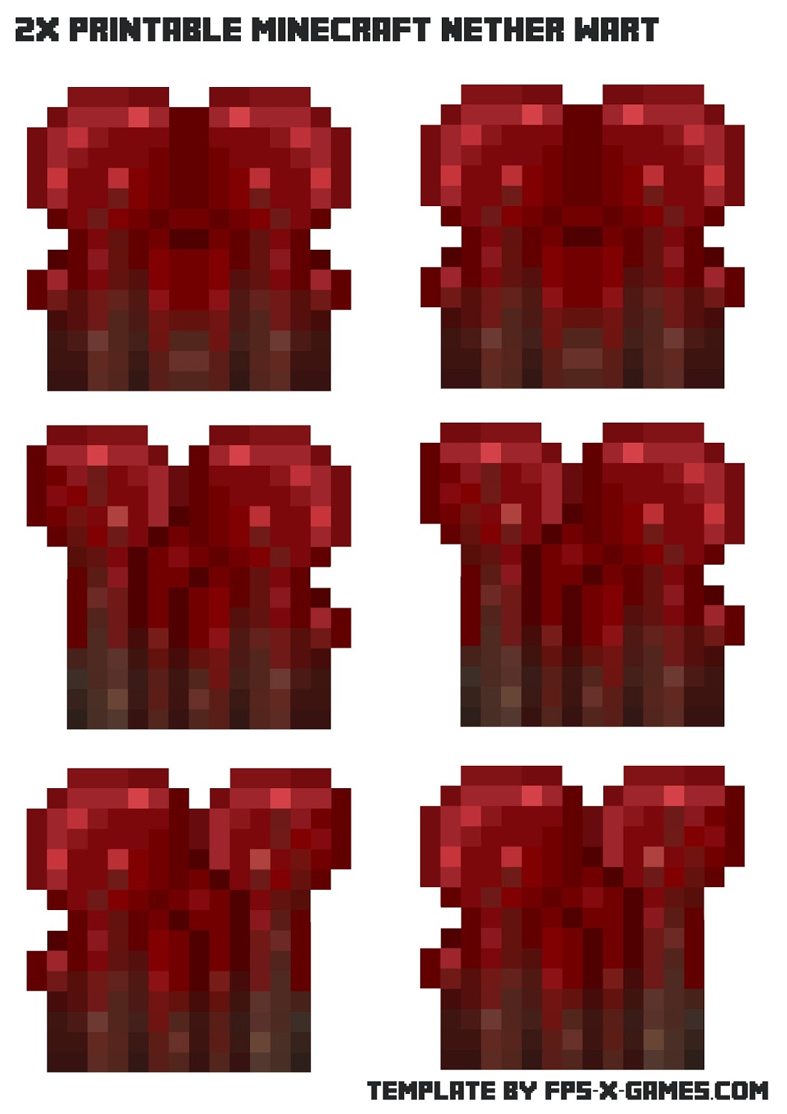 Minecraft Nether Wart - Printable Papercraft