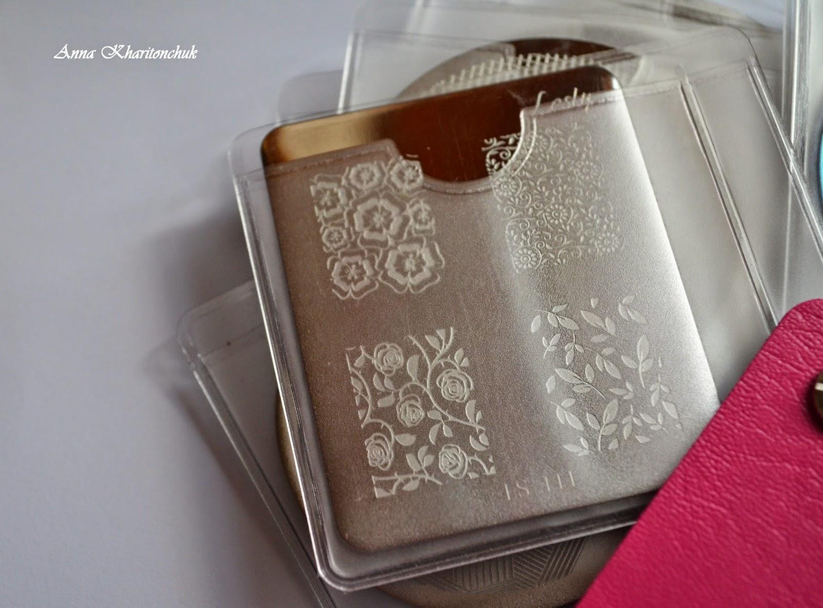 Холдер для хранения пластин для стемпинга -  24 Slots Nail Art Stamping Plate Holder Organizer Concise Pattern