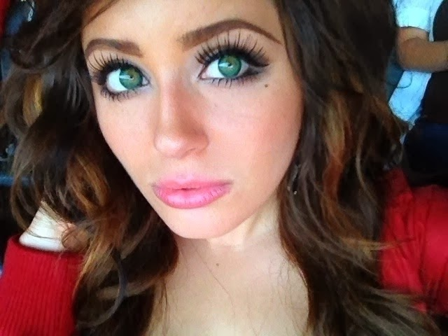 barbie puffy green colored contacts