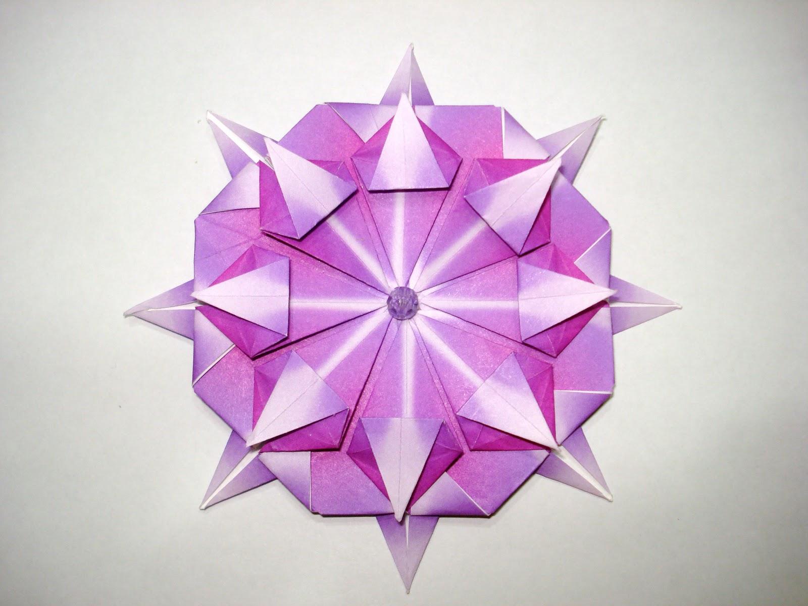 Origami compass rose