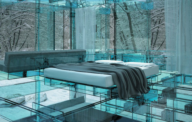 """مجموعة العجائب ل (zein alabdeen) تقدم لكم (البيت الزجاجي """" لا مكان للأختباء من الجيران '' جدران زجاج Santambrogio-glass-house-cube-4-1"""