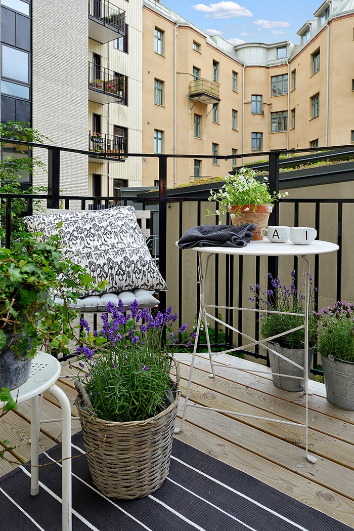 Boho deco chic ideas para decorar una peque a terraza o for Terraza para balcon