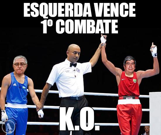 Caricaturas de Ferro Rodrigues e Fernando Negrão – Esquerda Ganha 1º Combate   -   K.O.