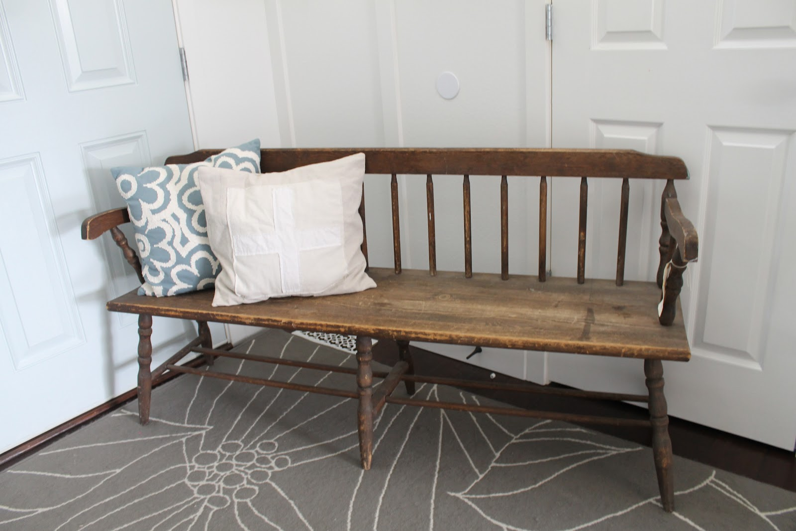 Antique Entryway Table whimsical treasures: vintage windsor wood bench
