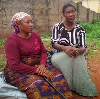 Photos of Mercy Johnson Taking Care Of 'Blind' Veteran Actress, Patience Ozokwor