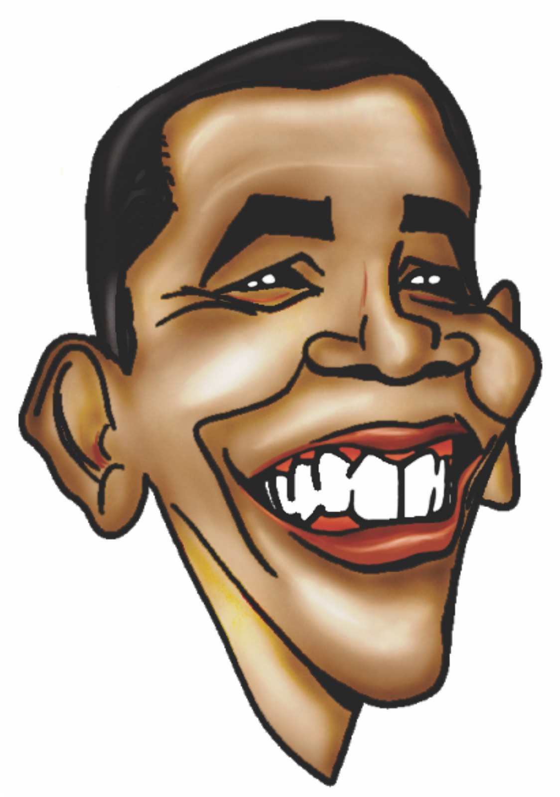 caricatura Obama | Pintando e Colorindo