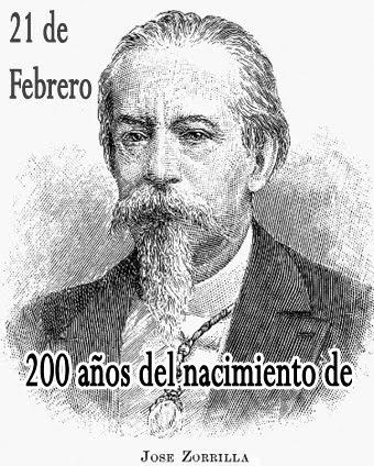 José Zorrilla, 200 años de su nacimiento.