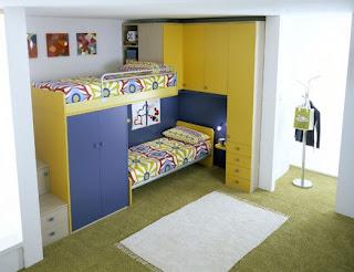 habitación azul para dos chicos