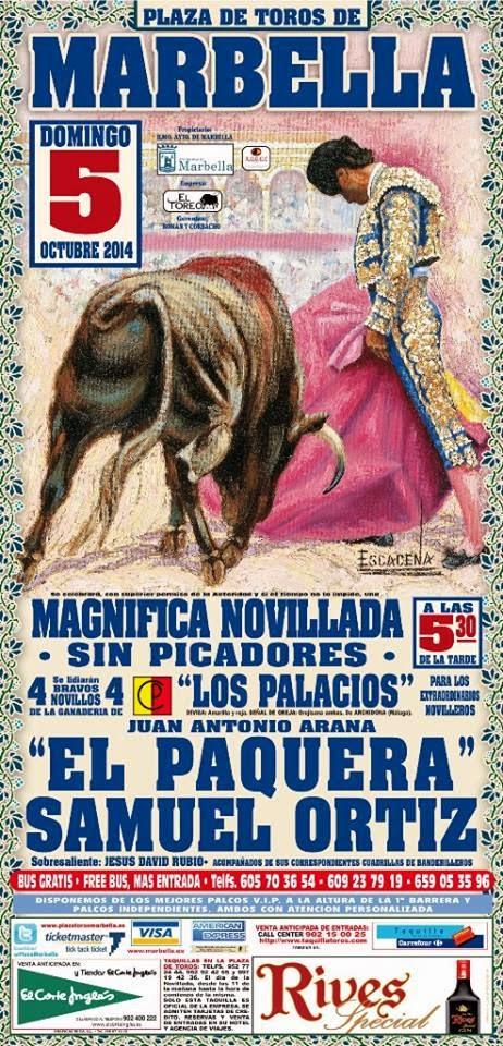 Lascosasdeltoro toros en marbella el 5 de octubre for La scala marbella