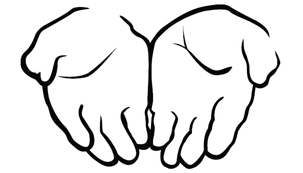 Open Praying Hands Clip Art