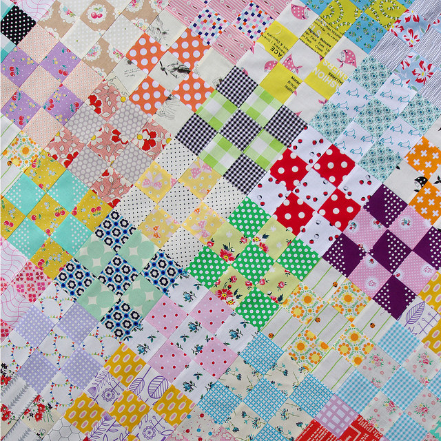 Red Pepper Quilts: Nine Patch Checkerboard Quilt Tutorial : nine block quilt pattern - Adamdwight.com