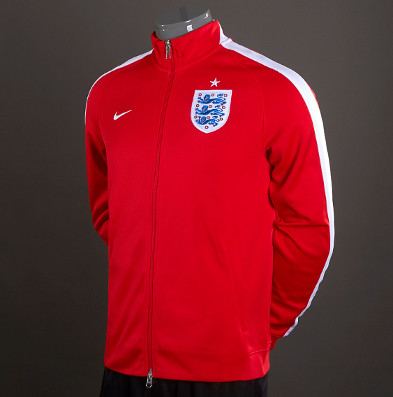 Nike England N98 Authentic Track Jacket - RedWhite