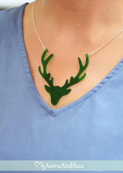 Acrylic Deer Necklace