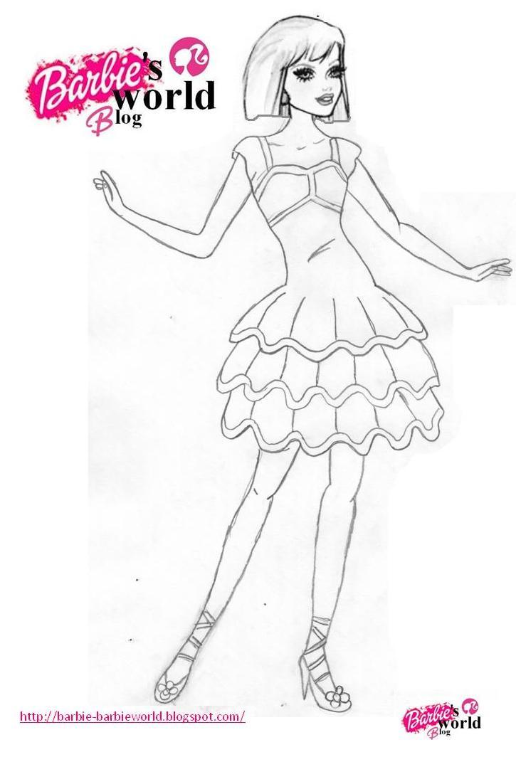 Barbie\'s world blog: Dibujos para colorear de Barbie