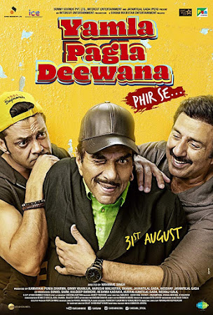 Poster Of Hindi Movie Yamla Pagla Deewana Phir Se 2018 Full HD Movie Free Download 720P Watch Online