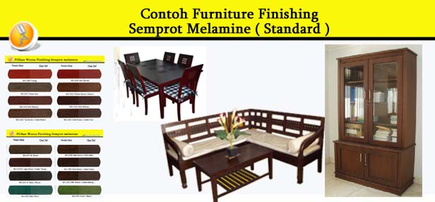 Contoh Furniture finishing Semprot Melamine ( Standard ) 2