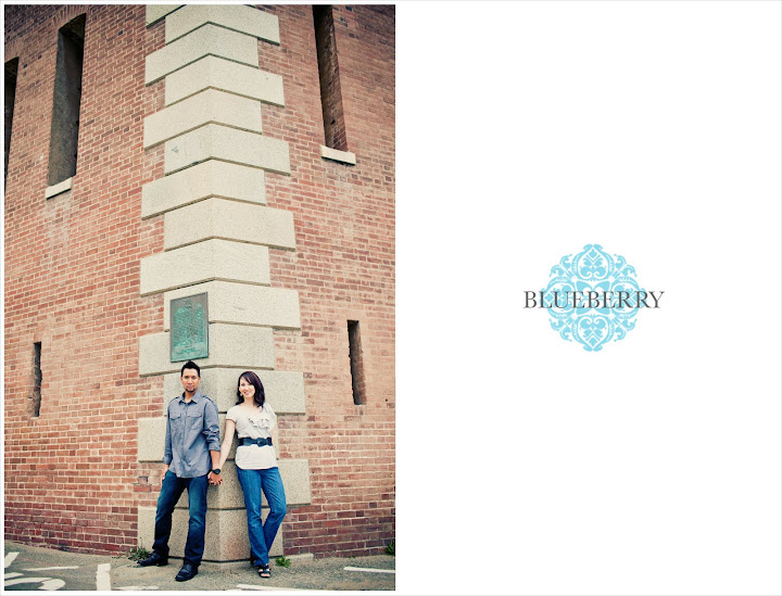 San Francisco fort point brick wall engagement photography session