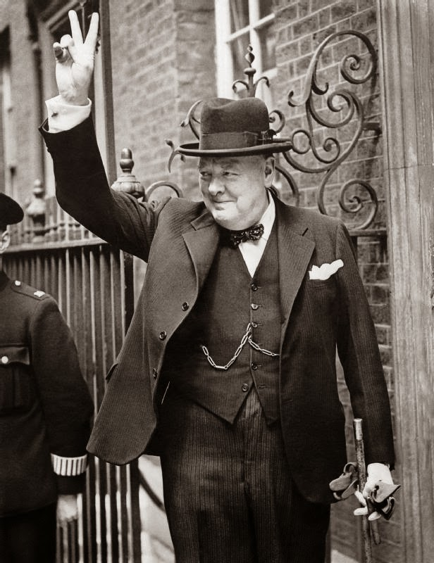 Democracy man: Winston Churchill.