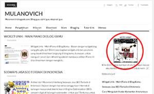 widget unik drum untuk blog