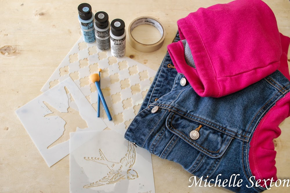 Supplies needed for stenciling