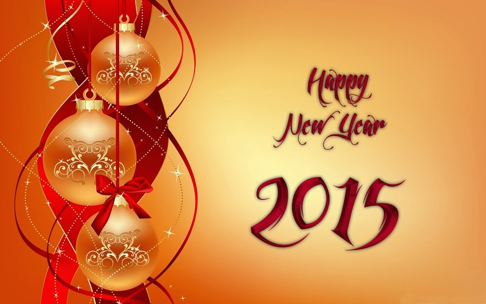 Christmas Ball Happy New Year Greeting Cards 2015 Images