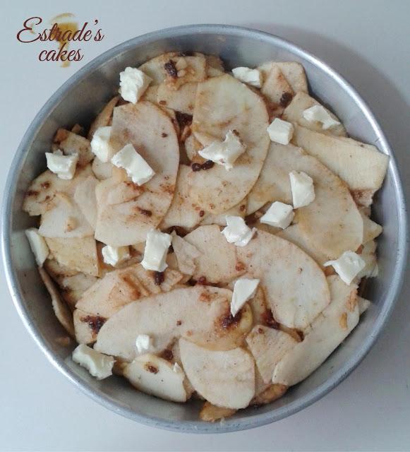 receta de pastel sorpresa de manzana - manzanas