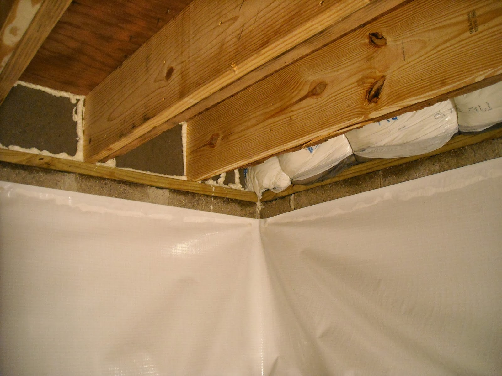Indiana crawlspace repair and waterproofing november 2013 for Wood crawl space foundation