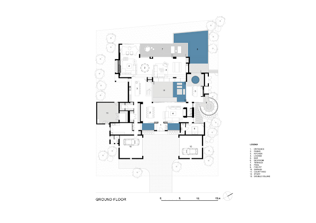 Ground floor plan of the dream home