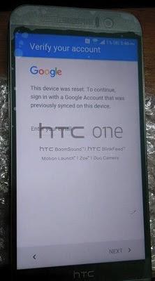 Chuyen mo khoa gmail dien thoai HTC loi xac minh tai khoan cua ban
