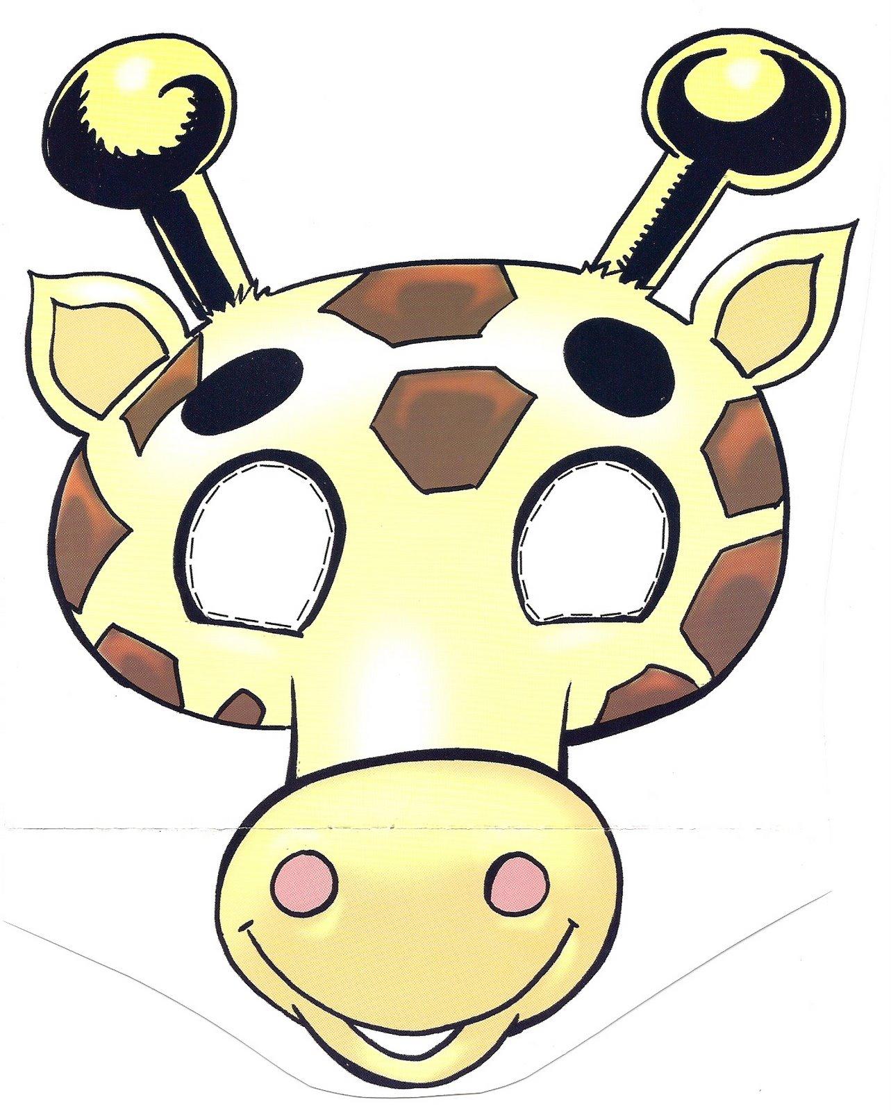 Máscara de un jirafa 4. Manualidades a Raudales.